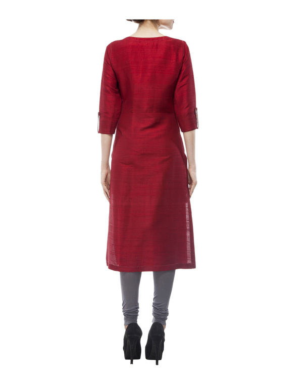 Kurta with front ajrakh print placket, comes with legging             tie & dye chiffon dupatta 2