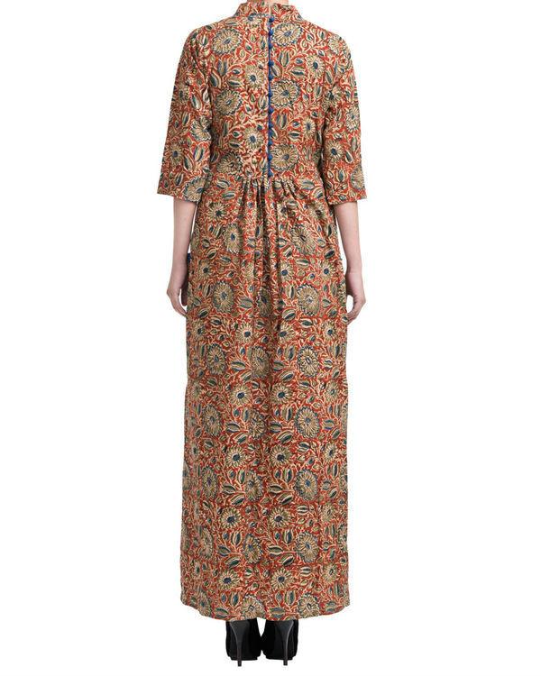 Kalamkari mandarin collar dress 1