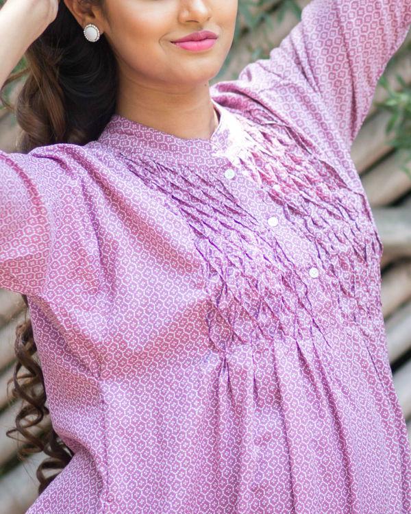lavender maternity kurta 2