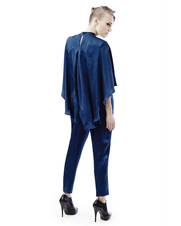 Silk top with  bat sleeves 2