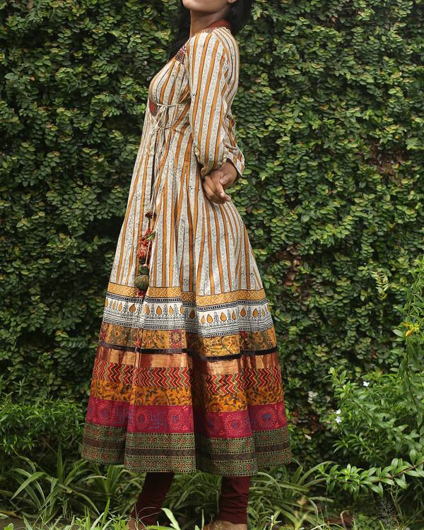 Striped cotton angrakha 3