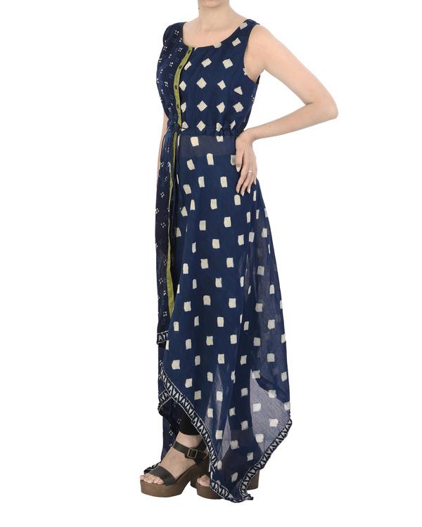 Asymmetric Indigo dress 3