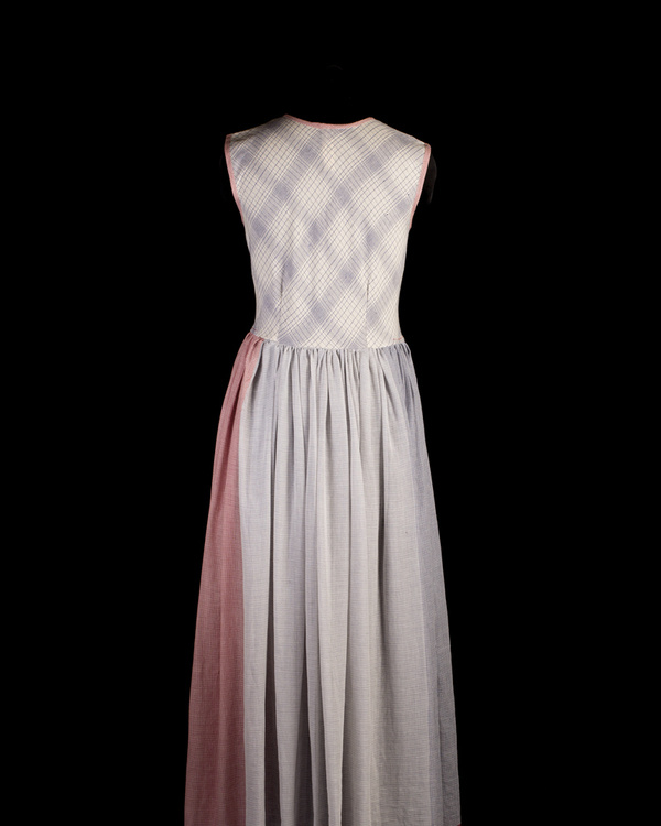 Gathered maxi dress with neckpiece 1