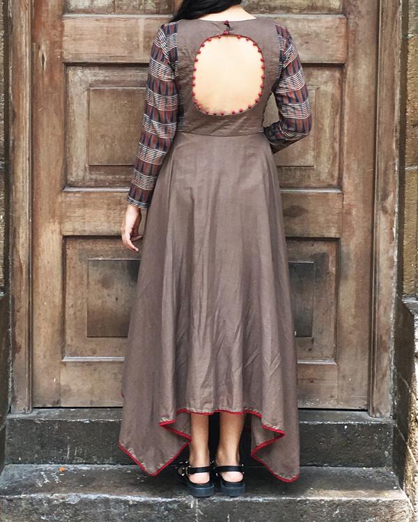 Brown hankerchief tunic 1