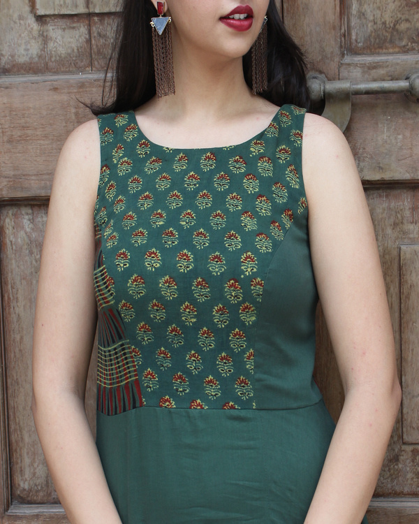 Green asymmetric tunic 2