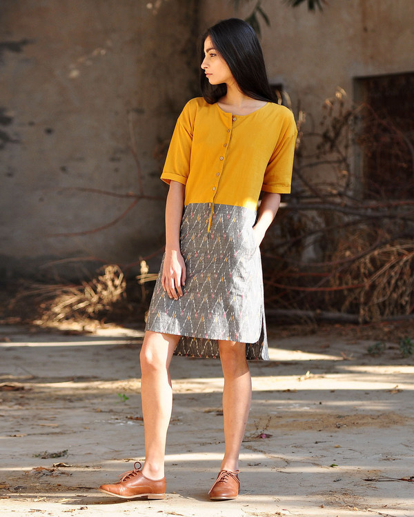 Marigold shift dress 1