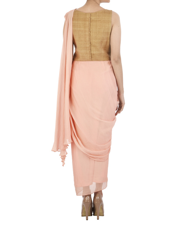 Pink and Mustard dhoti dress 1