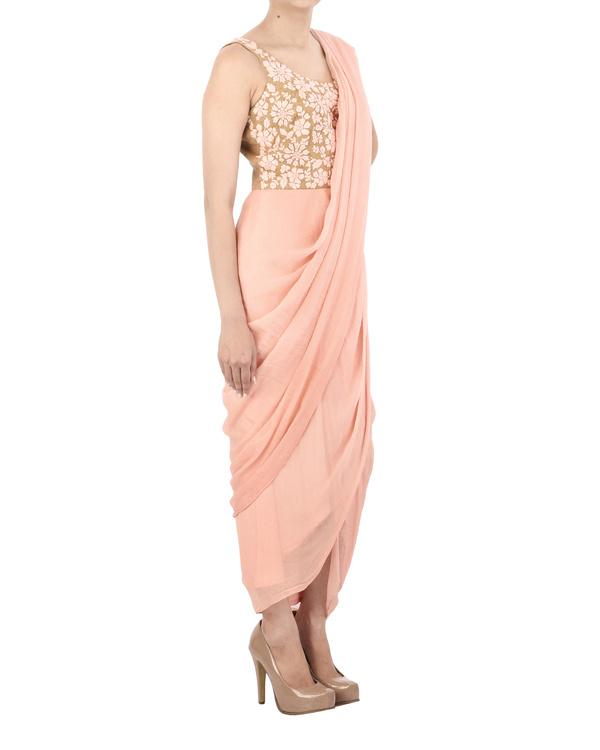Pink and Mustard dhoti dress 2