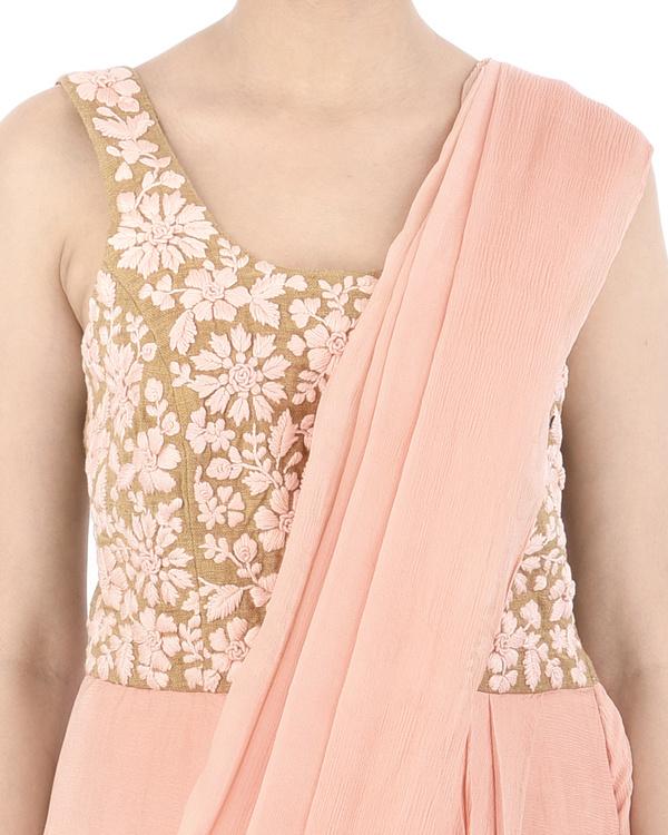 Pink and Mustard dhoti dress 4