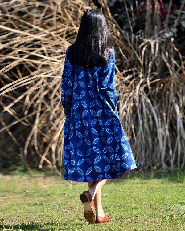 Indigo swing dress 1