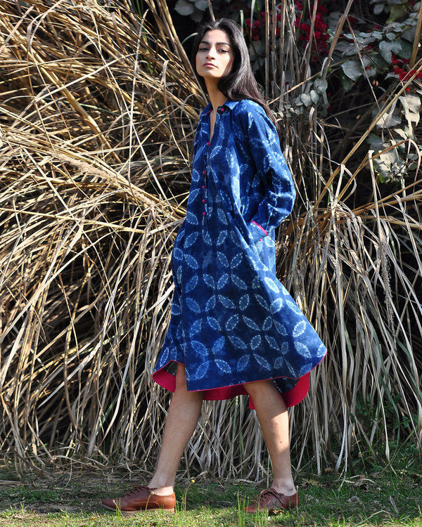 Indigo swing dress 2