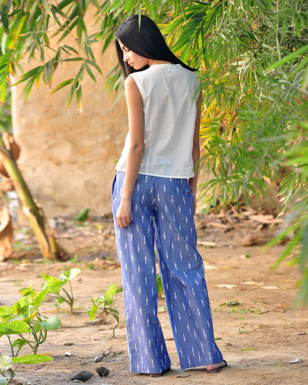Wide legged ikat pants 2