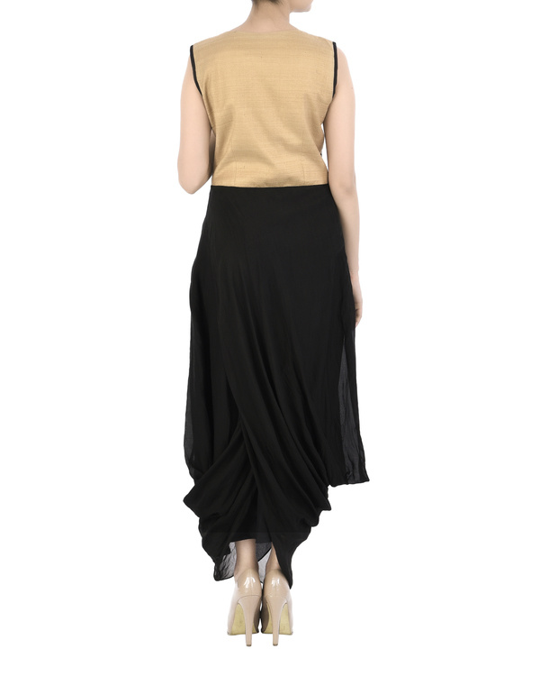 Emdroidered yoke dress with dhoti body 2