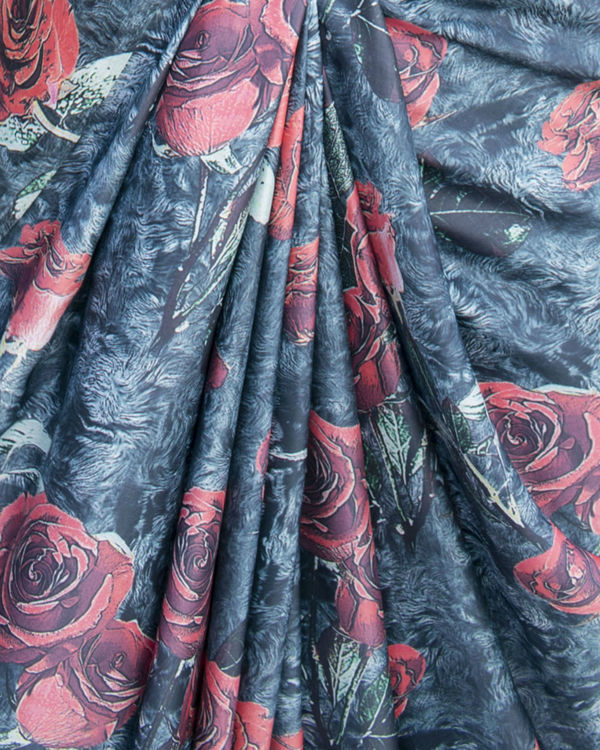 Vintage rose saree 1
