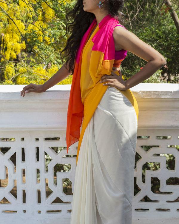 Sunshine white saree 1