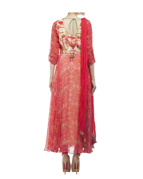 Georgette silk digital printed anarkali set 2