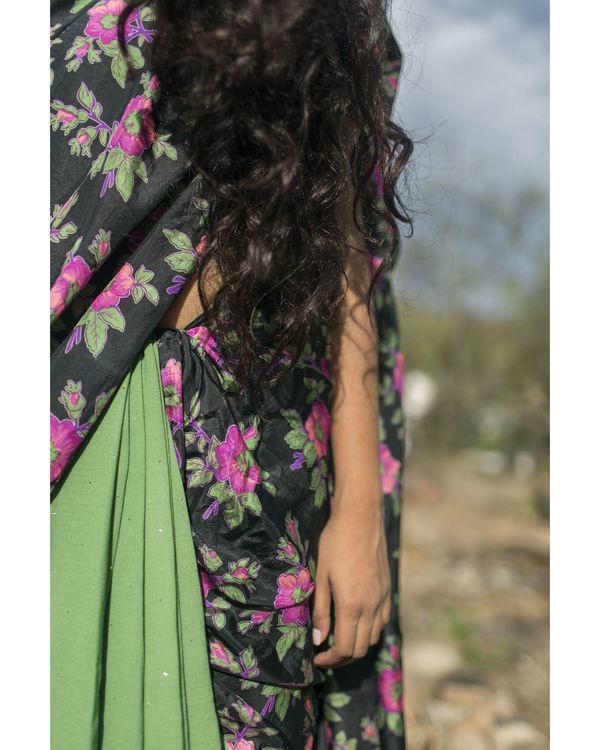 Green floral saree 1