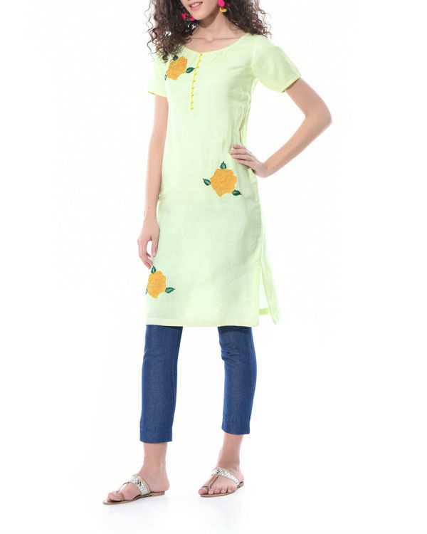 Lemon yellow shift dress 1