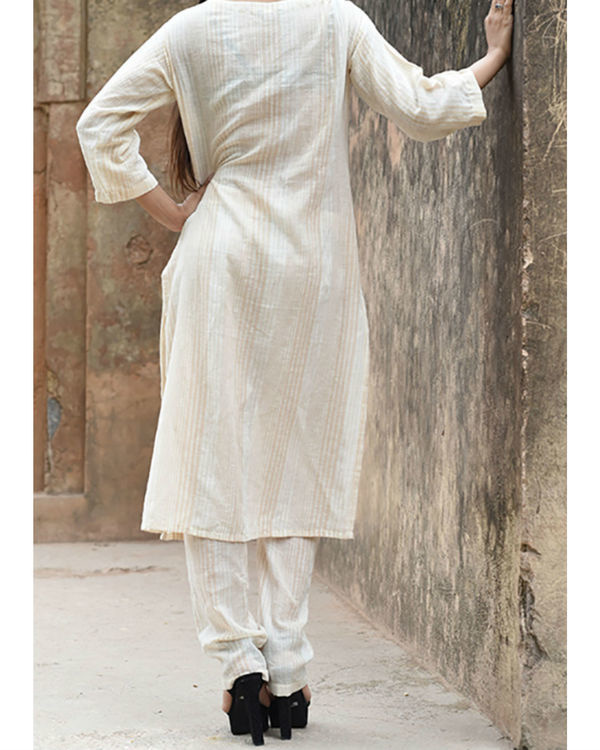 Beige khadi shift tunic 1