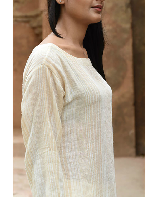 Beige khadi shift tunic 2
