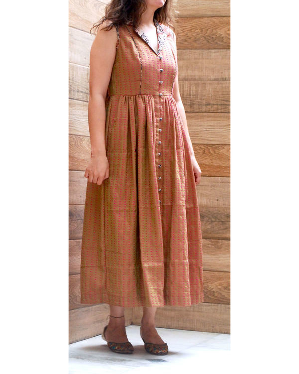 Olive lapel dress 1