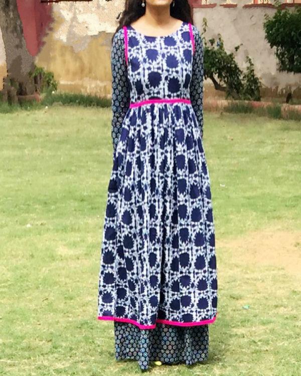 Indigo double layered dress 1