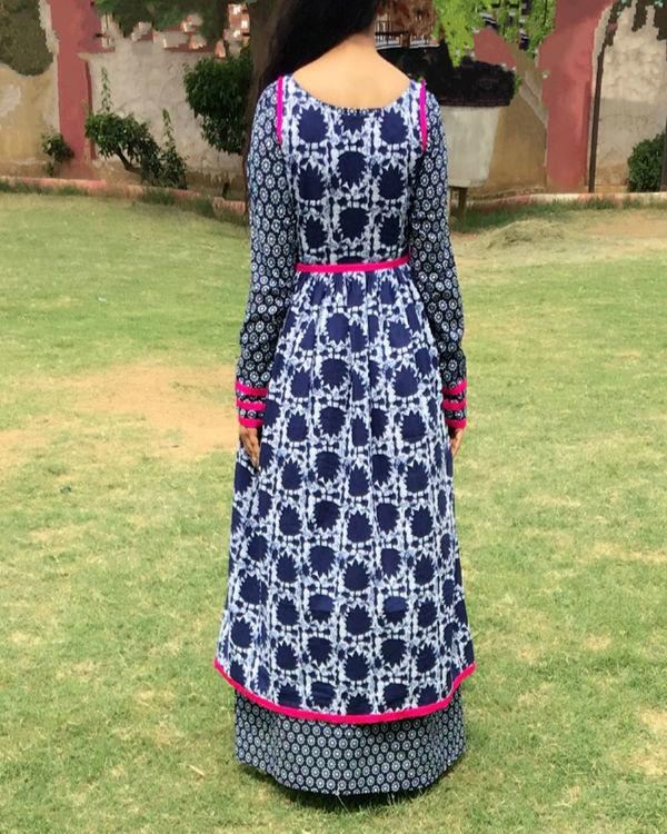 Indigo double layered dress 2