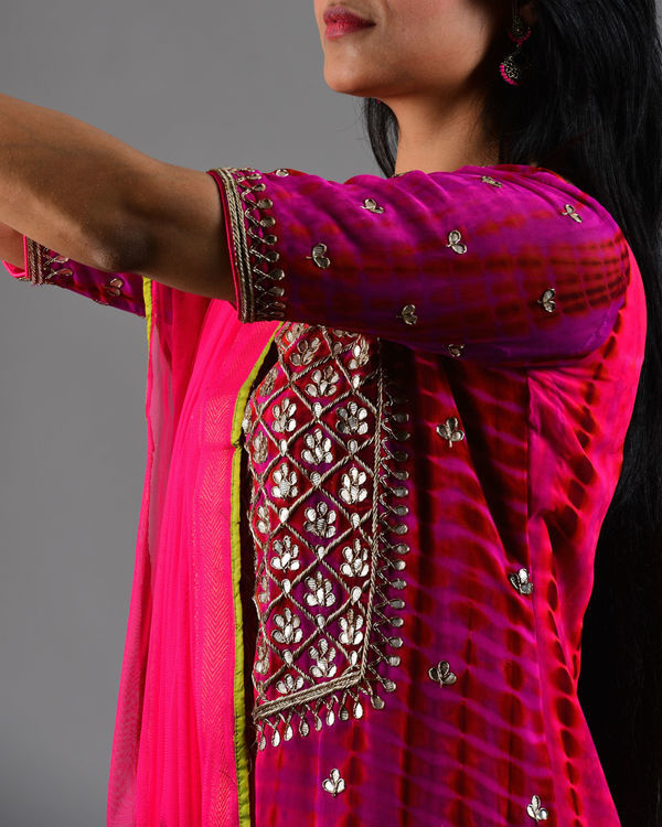 Rani pink embroidered suit set 2
