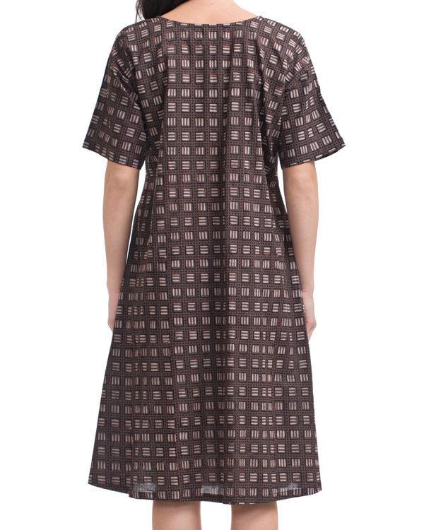 Charcoal tic-tac dress 1