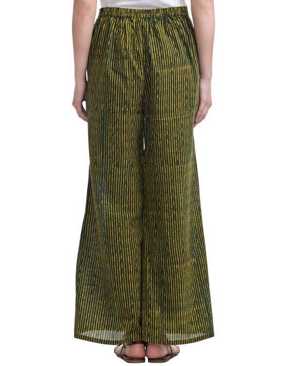 Green striped plazzo pants 2