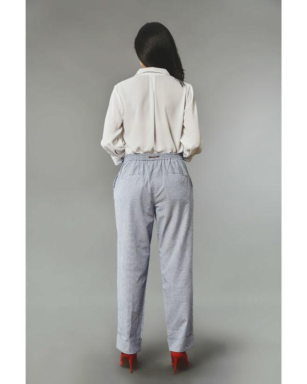 Pinstripe nautical pants 1