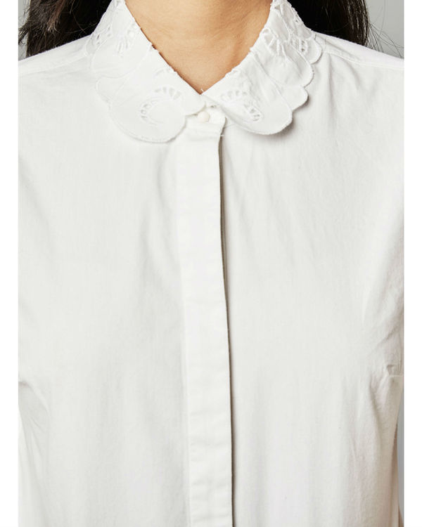 White embroidered shirt 1