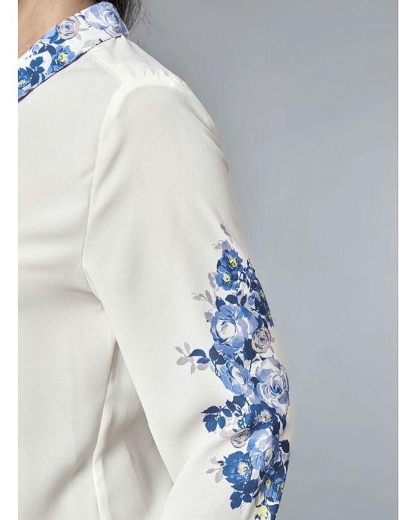 White indigo shirt 2