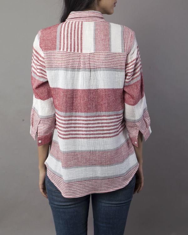 Linen striper top 1