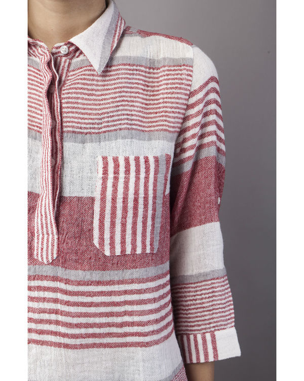 Linen striper top 2