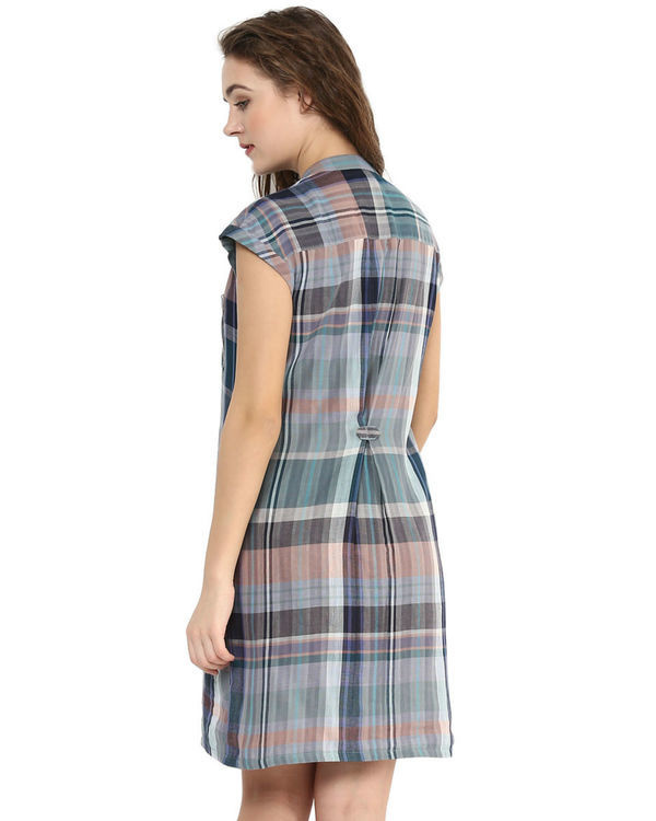 Plaid shirt dress 3