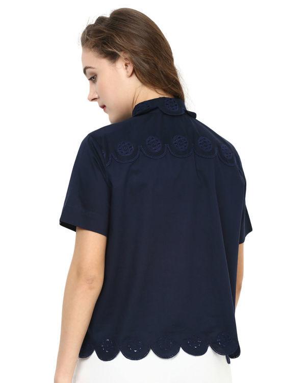 Navy cut out shirt 1