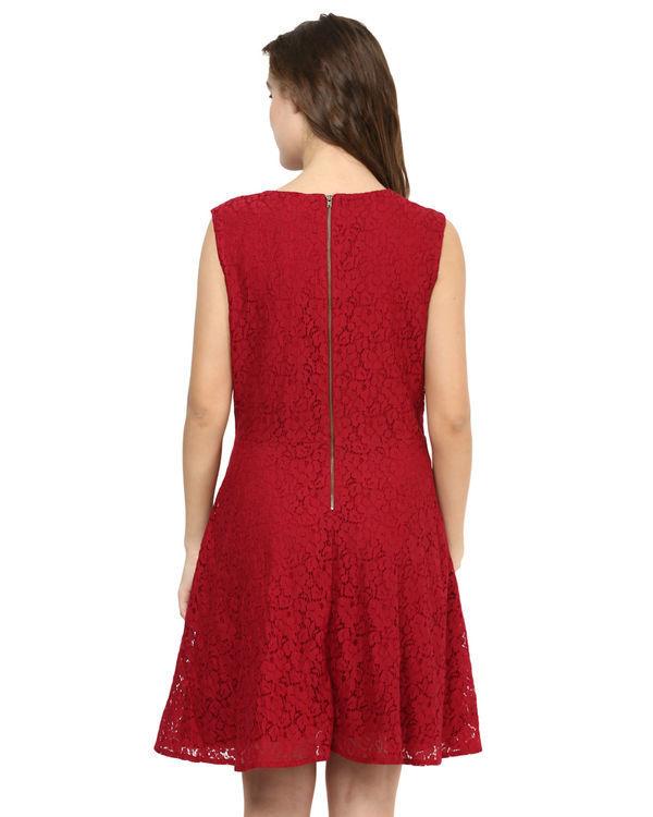 Marsala lace dress 1