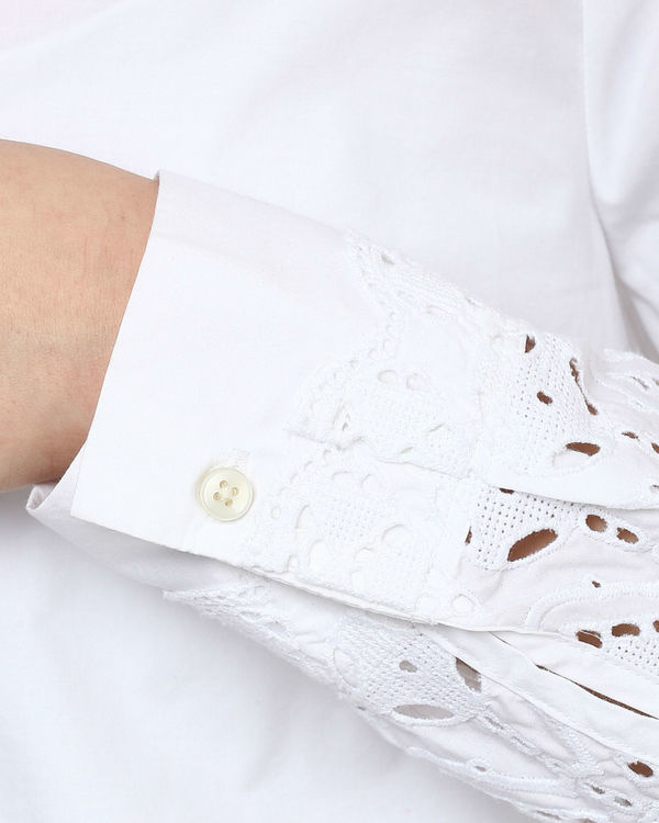 White cut out shirt 1