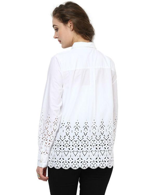 White cut out shirt 3