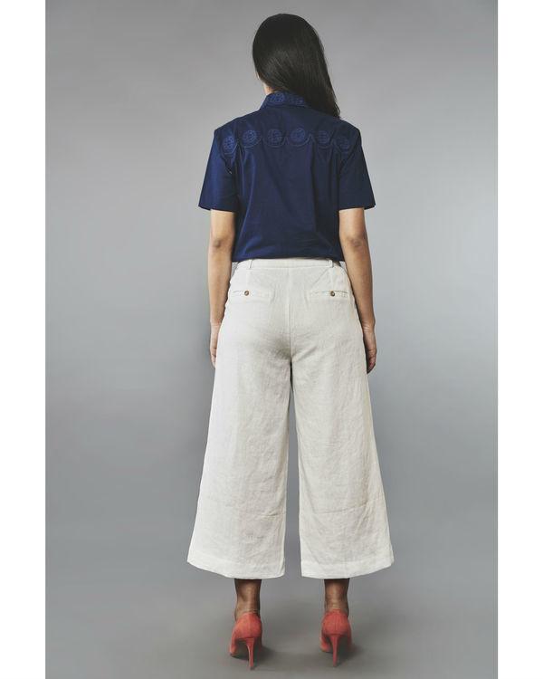 White linen culottes 1