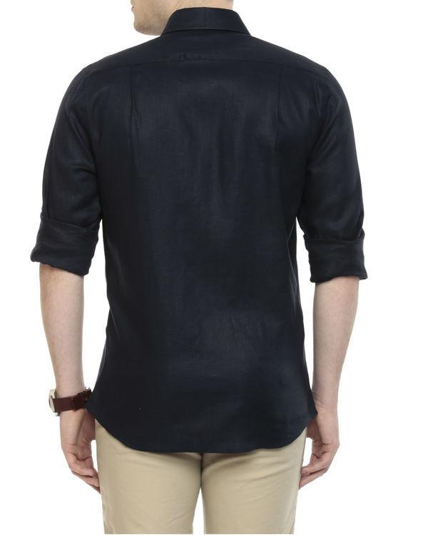 Navy linen shirt 1