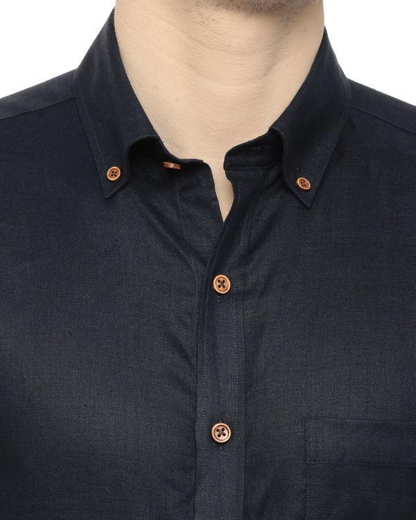Navy linen shirt 2