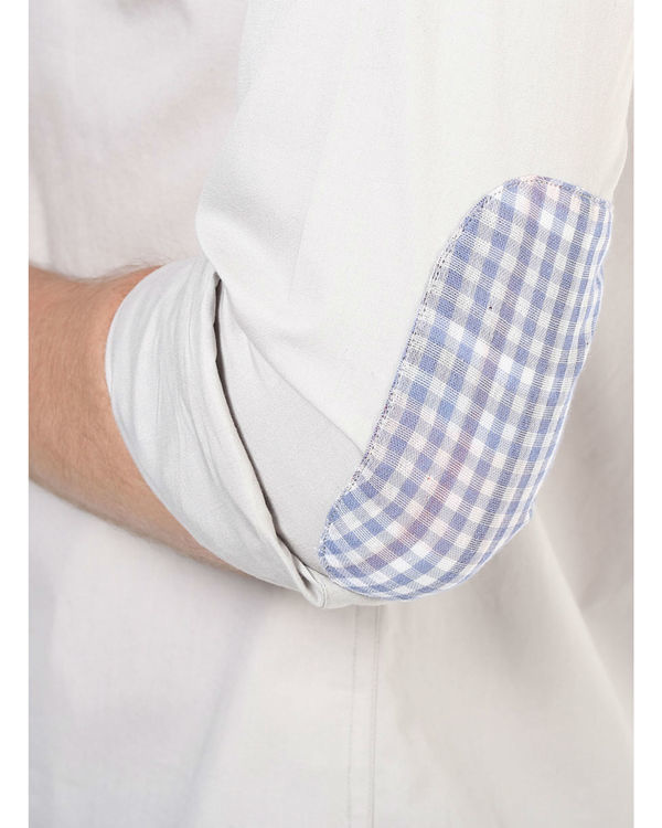 Elbow patch poplin shirt 3
