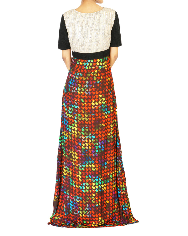 Digitally printed long dress 1