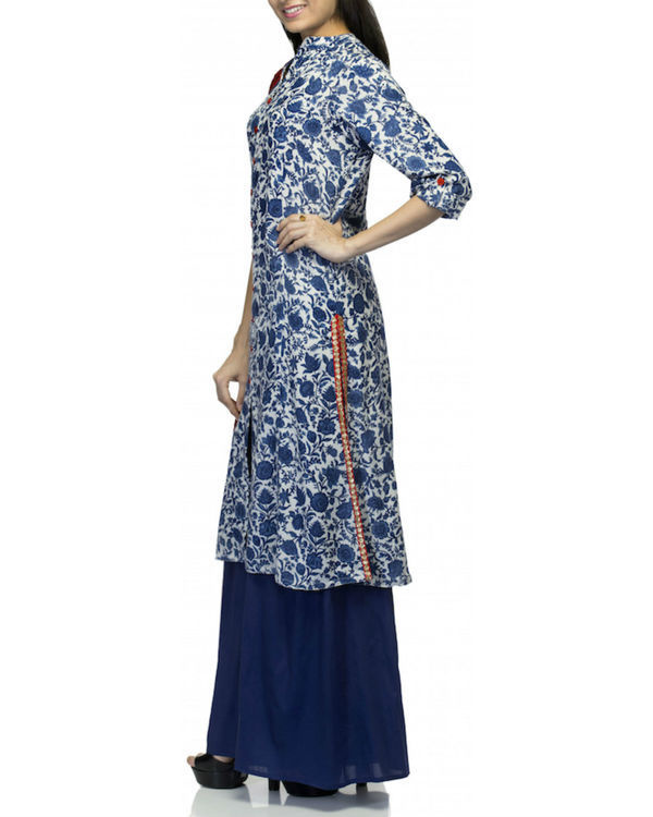 Blue kurta set with dupatta 1