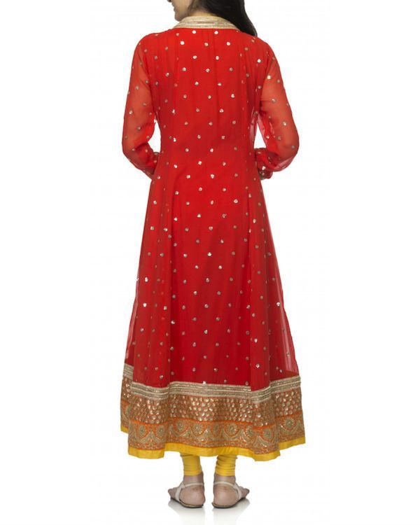 Red angrakha set with dupatta 1
