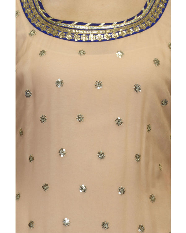 Peach kurta set with dupatta 2