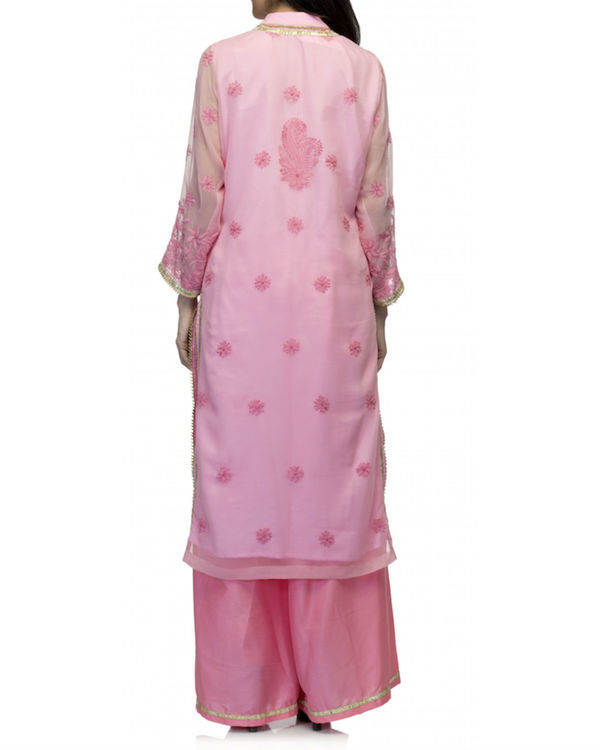 Pink kurta set with dupatta 1