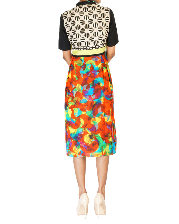 Digitally printed embroidered dress 1